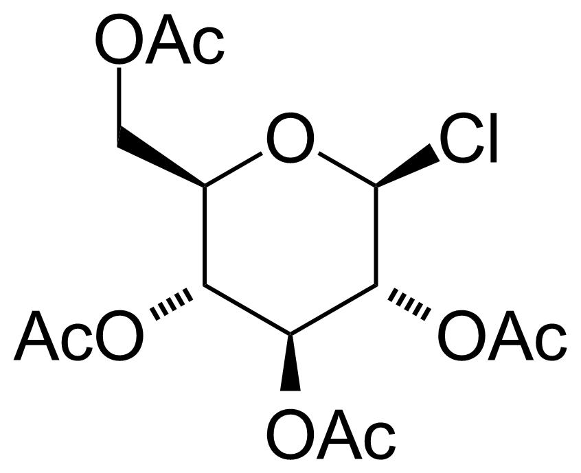 Structure of Acetochloro-beta-D-glucose