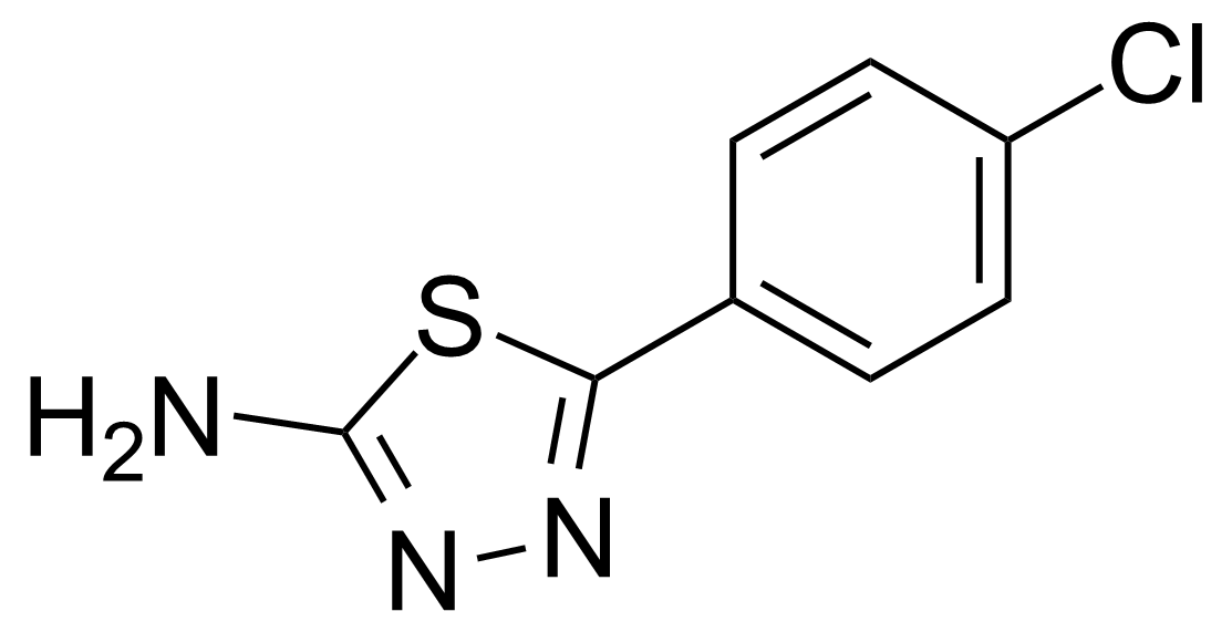 Structure of 2-Amino-5-(4-chlorophenyl)-1,3,4-thiadiazole