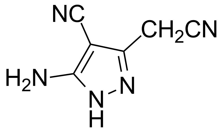 Structure of 5-Amino-4-cyano-3-cyanomethylpyrazole