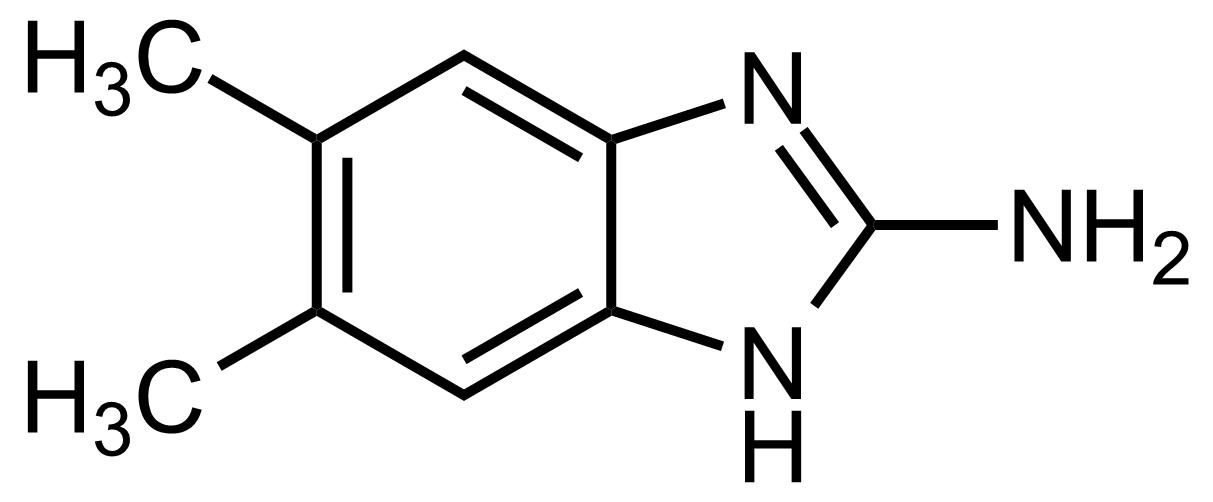 Structure of 2-Amino-5,6-dimethylbenzimidazole