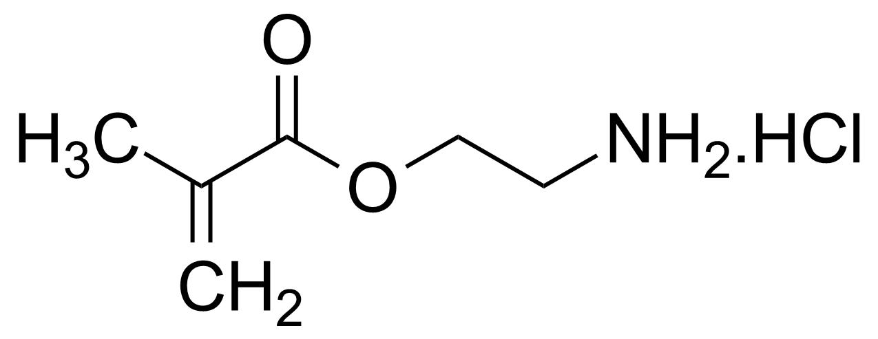 Structure of 2-Aminoethyl methacrylate hydrochloride