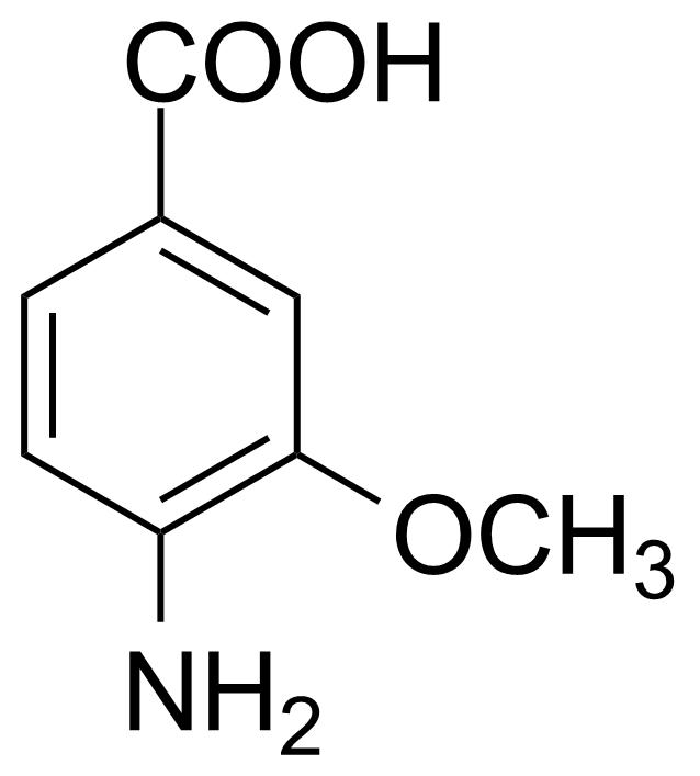 Structure of 4-Amino-3-methoxybenzoic acid