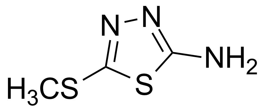 Structure of 2-Amino-5-(methylthio)-1,3,4-thiadiazole