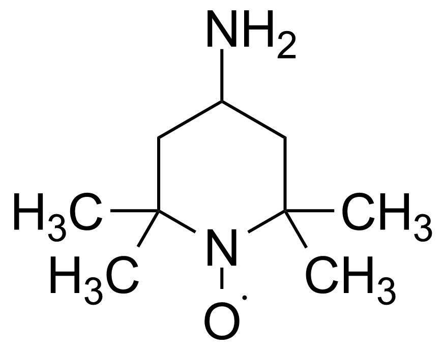 Structure of 4-Amino-2,2,6,6-tetramethylpiperidinoxy free radical
