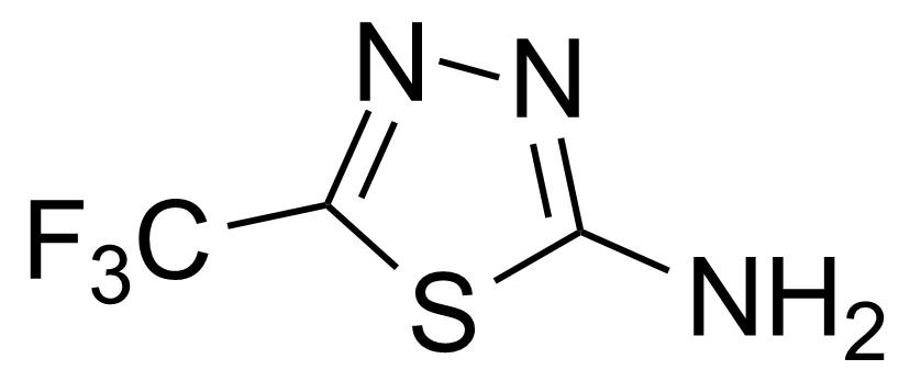 Structure of 2-Amino-5-trifluoromethyl-1,3,4-thiadiazole