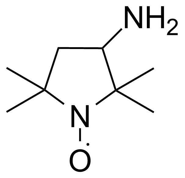 Structure of 2,2,5,5-Tetramethyl-3-amino-pyrrolidine-1-oxyl