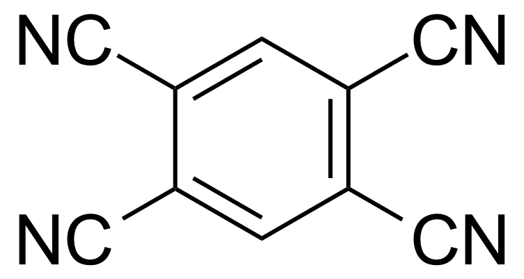 Structure of 1,2,4,5-Benzenetetracarbonitrile