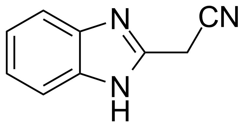 Structure of (2-Benzimidazolyl)acetonitrile