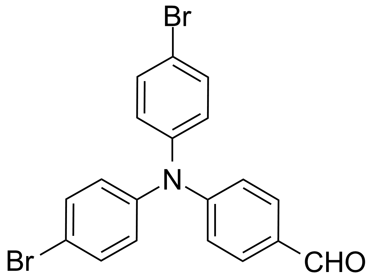 Structure of 4-[Bis-(4-bromophenyl)amino]benzaldehyde