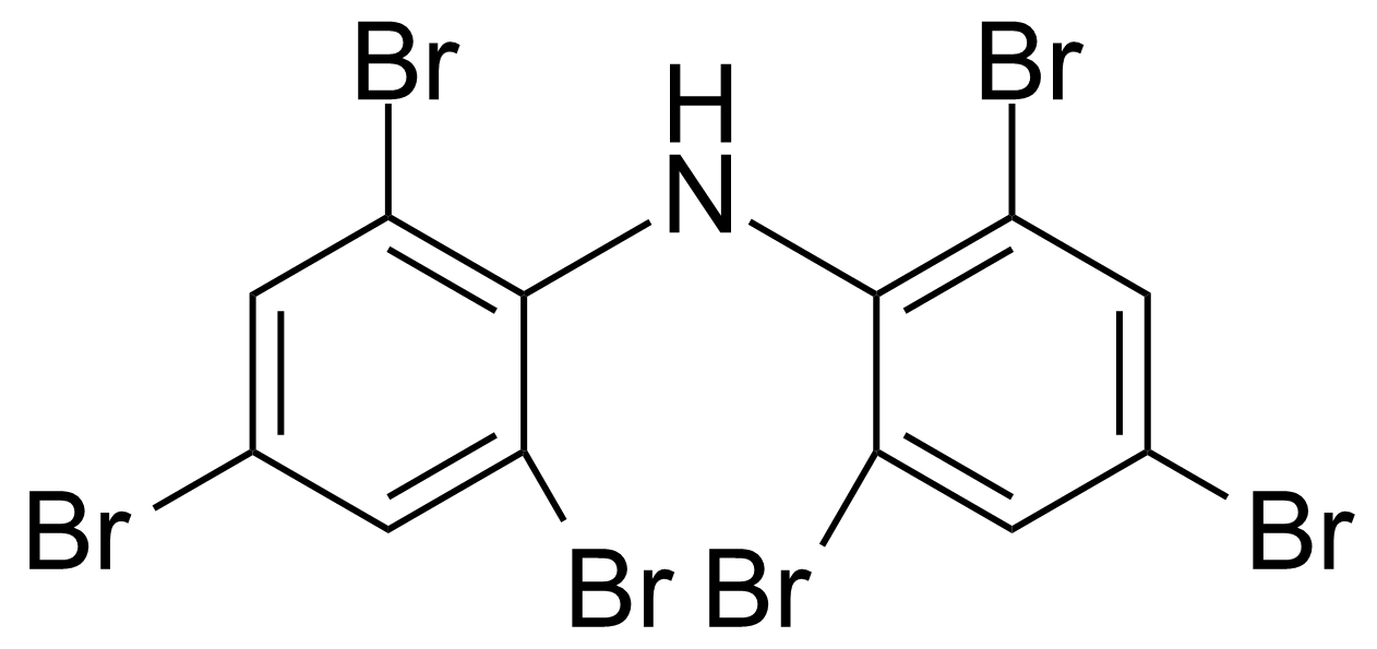 Structure of Bis-(2,4,6-tribromophenyl)amine
