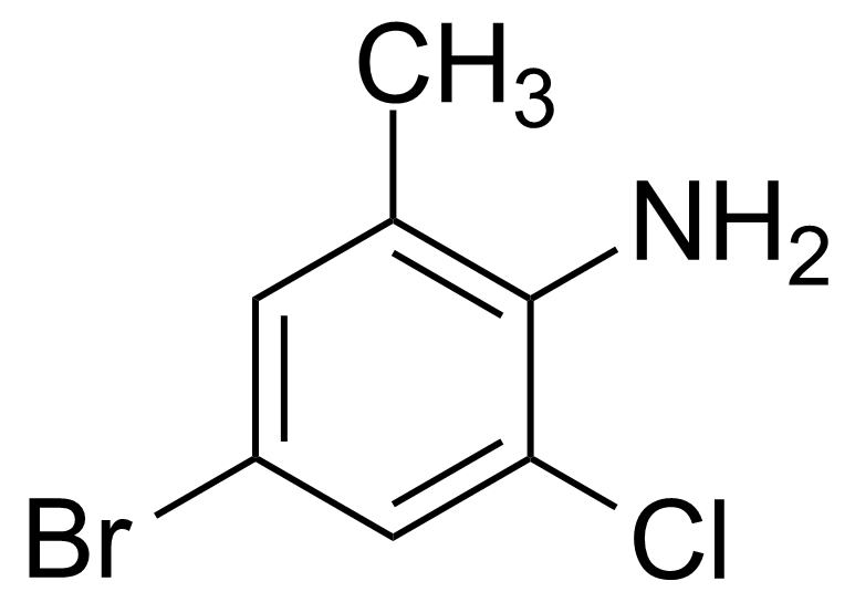 Structure of 4-Bromo-2-chloro-6-methylaniline