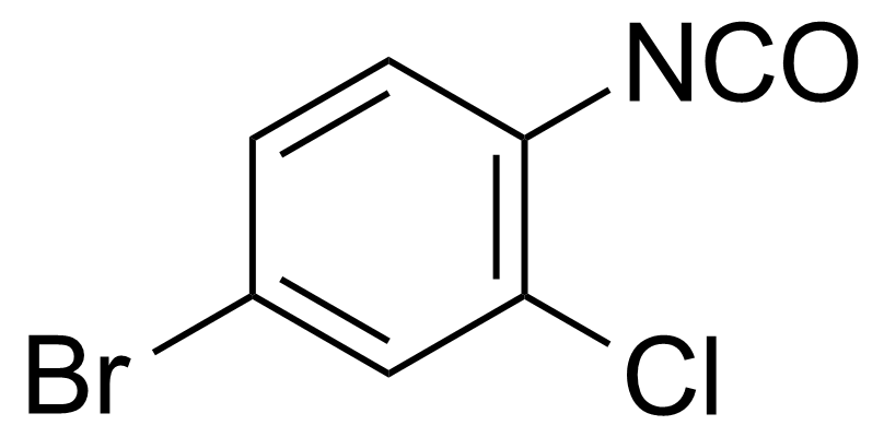 Structure of 4-Bromo-2-chlorophenyl isocyanate