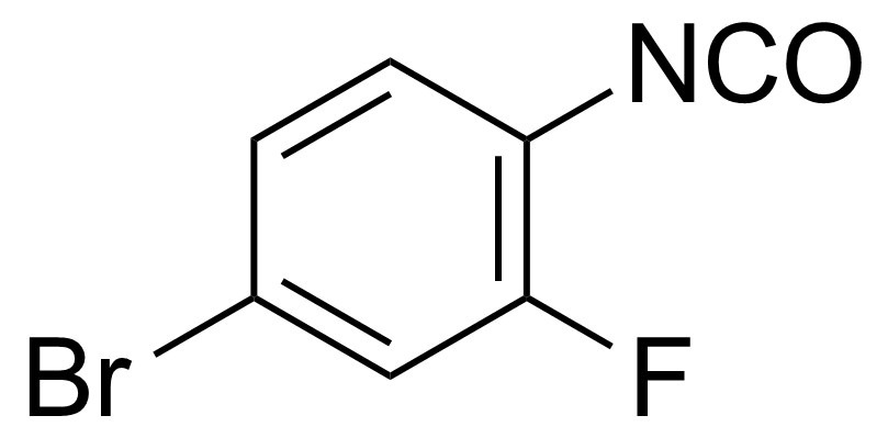 Structure of 4-Bromo-2-fluorophenyl isocyanate