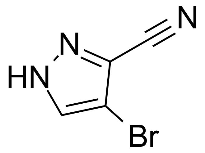 Structure of 4-Bromo-1H-pyrazole-3-carbonitrile