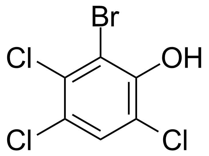 Structure of 6-Bromo-2,4,5-trichlorophenol