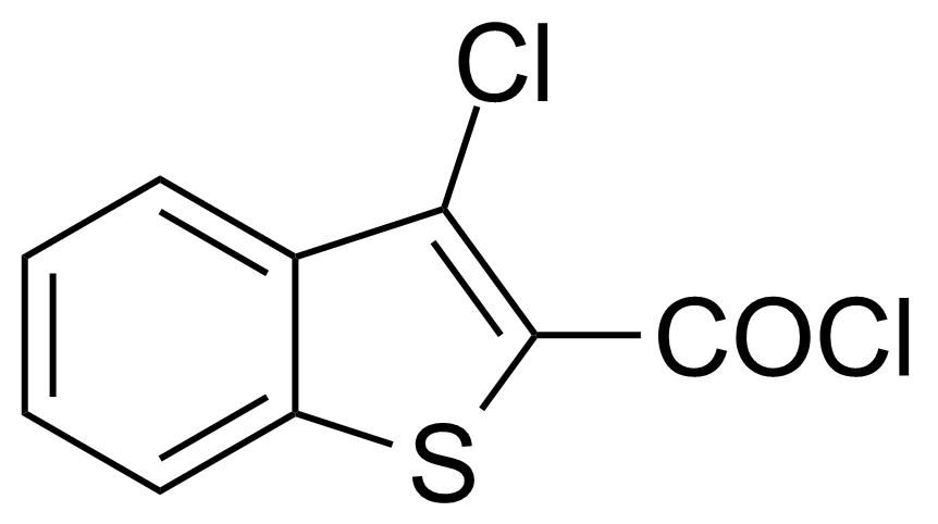 Structure of 3-Chlorobenzo[b]thiophene-2-carbonyl chloride
