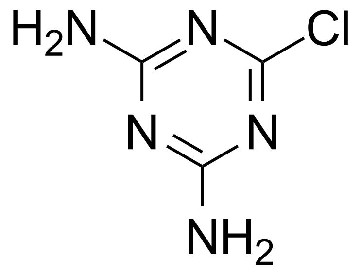 Structure of 2-Chloro-4,6-diamino-1,3,5-triazine