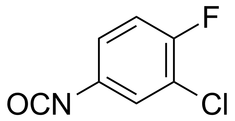 Structure of 3-Chloro-4-fluorophenyl isocyanate