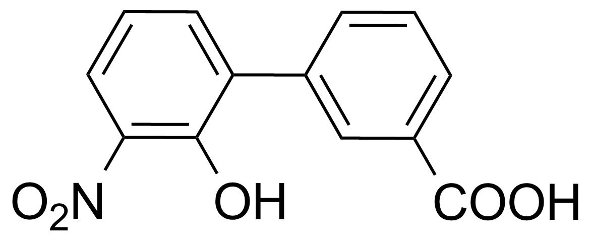 Structure of 2'-Hydroxy-3'-nitrobiphenyl-3-carboxylic acid