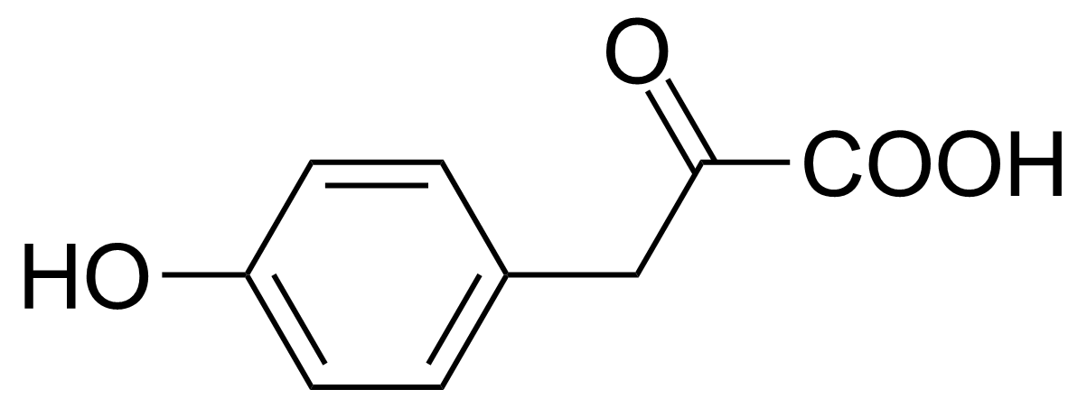Structure of 4-Hydroxyphenylpyruvic acid