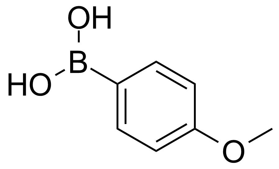 Structure of 4-Methoxyphenylboronic acid