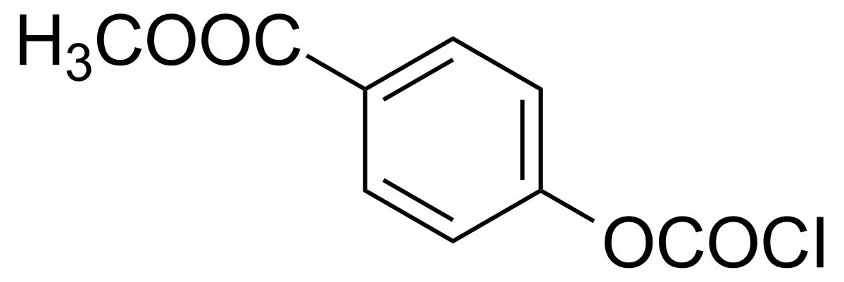 Structure of 4-Methoxycarbonylphenyl chloroformate