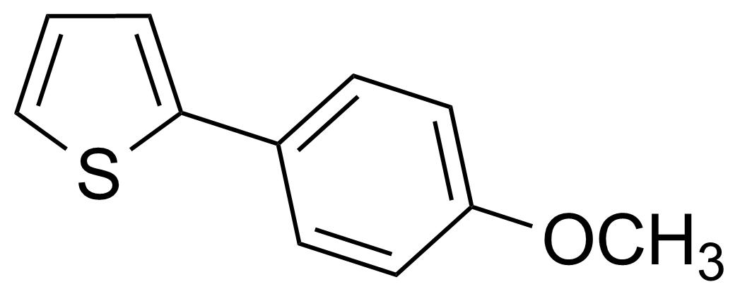 Structure of 2-(4-Methoxyphenyl)thiophene