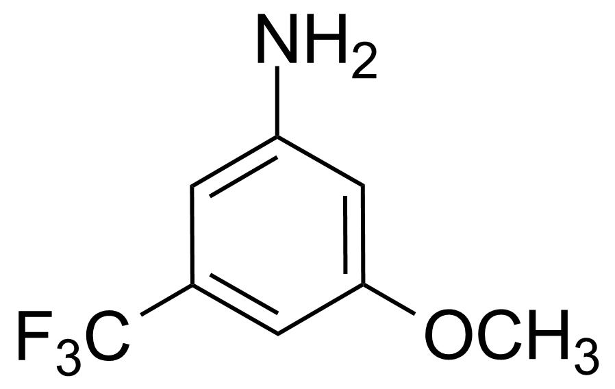 Structure of 3-Methoxy-5-(trifluoromethyl)aniline