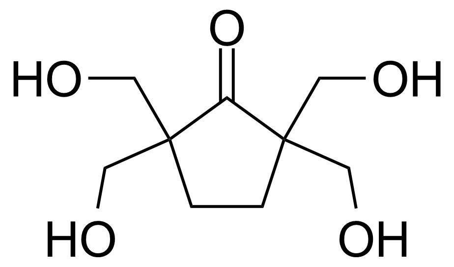 Structure of 2,2,5,5-Tetrakis(hydroxymethyl)cyclopentanone