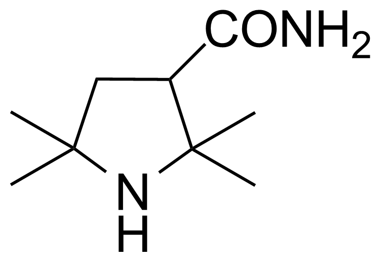 Structure of 2,2,5,5-Tetramethyl-3-pyrrolidinecarboxamide