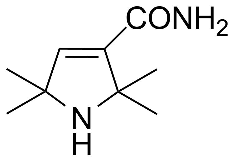 Structure of 2,2,5,5-Tetramethyl-3-pyrroline-3-carboxamide
