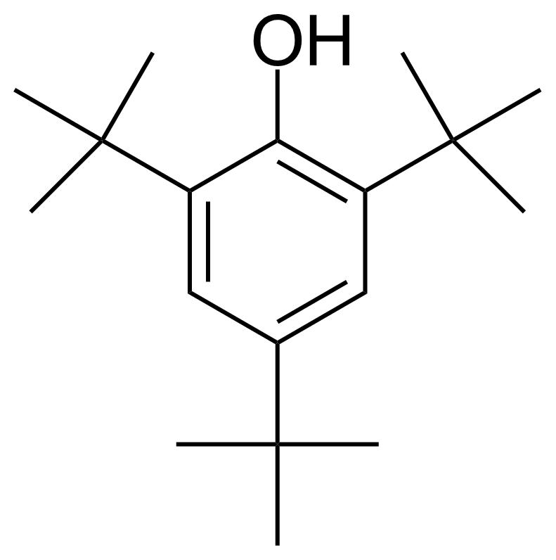 Structure of 2,4,6-Tri-tert-butylphenol