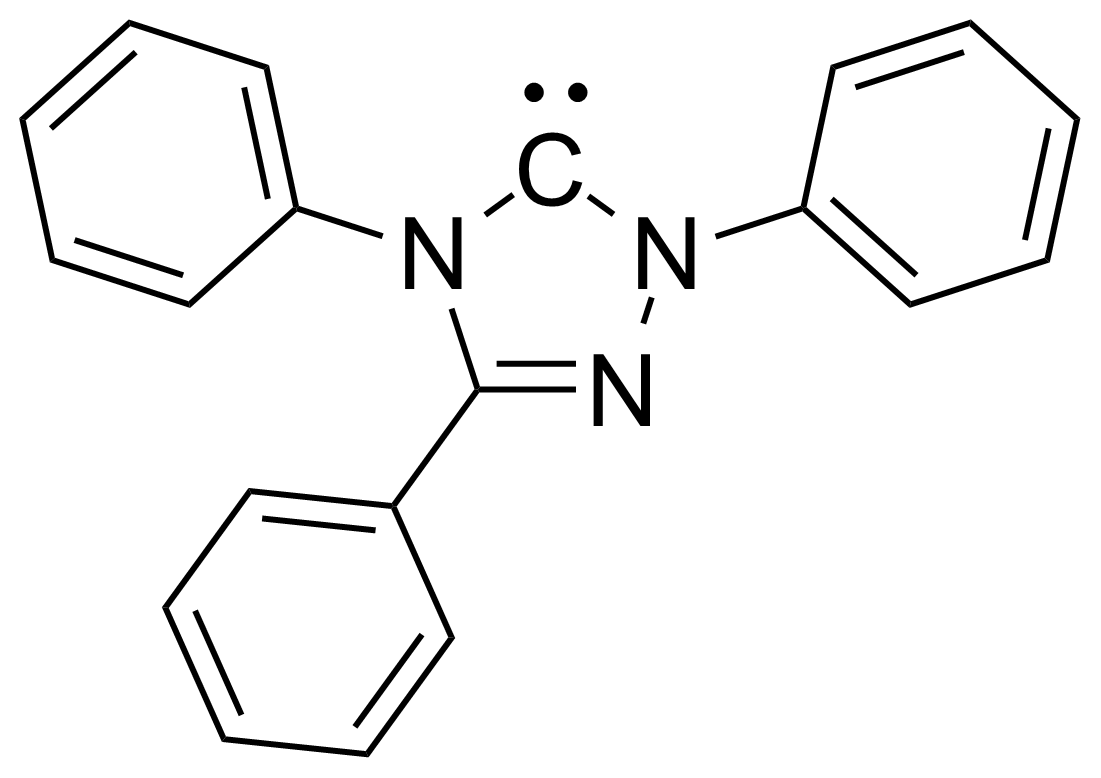 Structure of 1,3,4-Triphenyl-4,5-dihydro-1H-1,2,4-triazol-5-ylidene