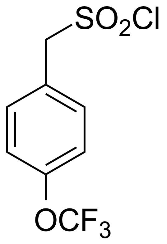Structure of 4-(Trifluoromethoxy)phenylmethanesulfonyl chloride