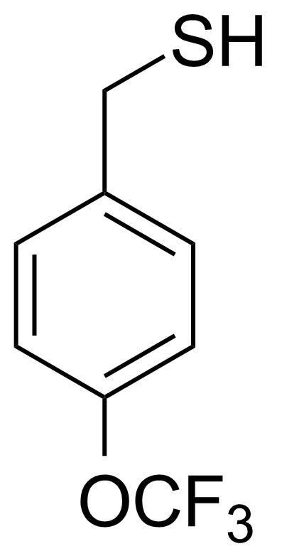 Structure of 4-(Trifluoromethoxy)phenylmethanethiol