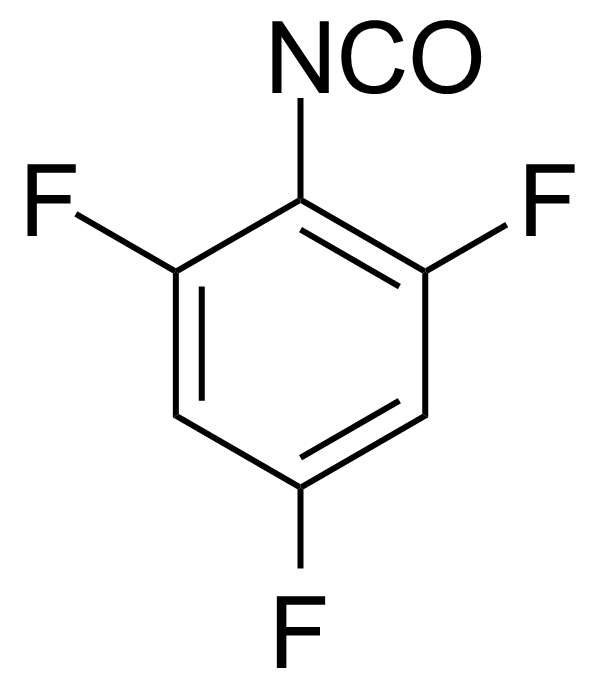 Structure of 2,4,6-Trifluorophenyl isocyanate