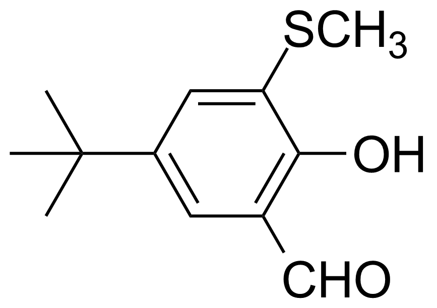 Structure of 5-tert-Butyl-2-hydroxy-3-(methylthio)benzaldehyde