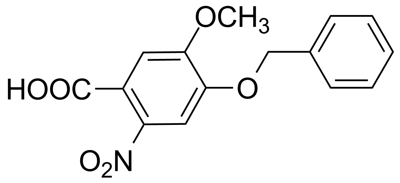 Structure of 4-Benzyloxy-5-methoxy-2-nitrobenzoic acid