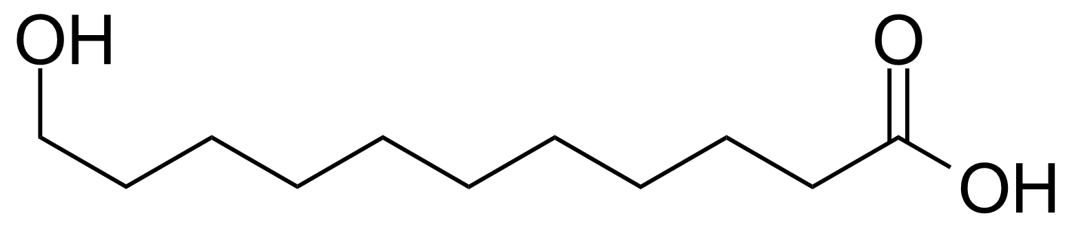 Structure of 11-Hydroxyundecanoic acid