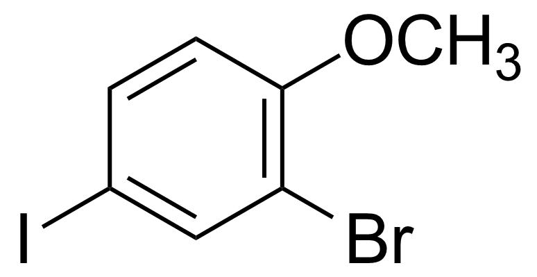Structure of 2-Bromo-4-iodo-1-methoxybenzene