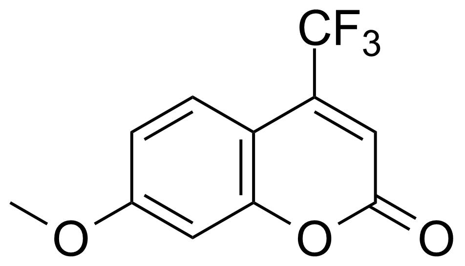 Structure of 7-Methoxy-4-(trifluoromethyl)coumarin