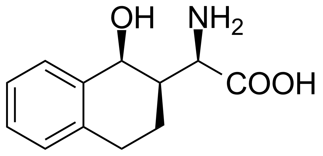 Structure of (R)-2-Amino-2-((1S,2R)-1-hydroxy-1,2,3,4-tetrahydronaphthalen-2-yl)acetic acid