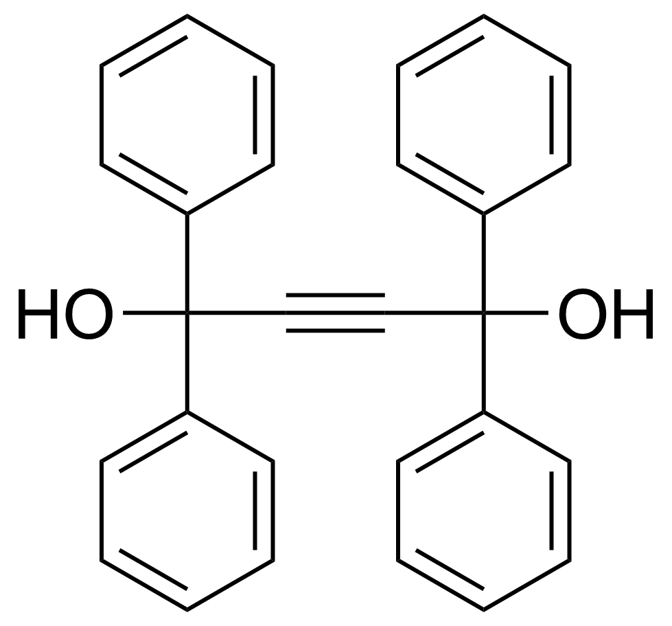 Structure of 1,1,4,4-Tetraphenylbut-2-yne-1,4-diol