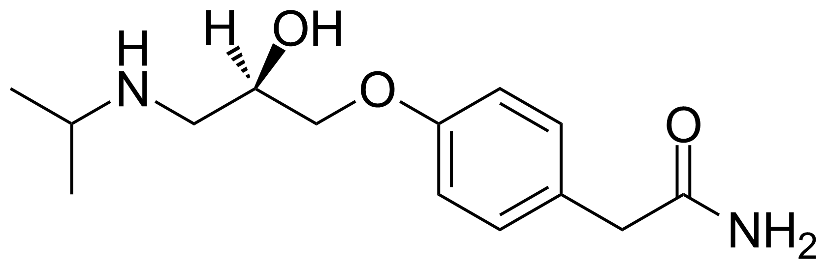 Structure of (R)-(+)-Atenolol