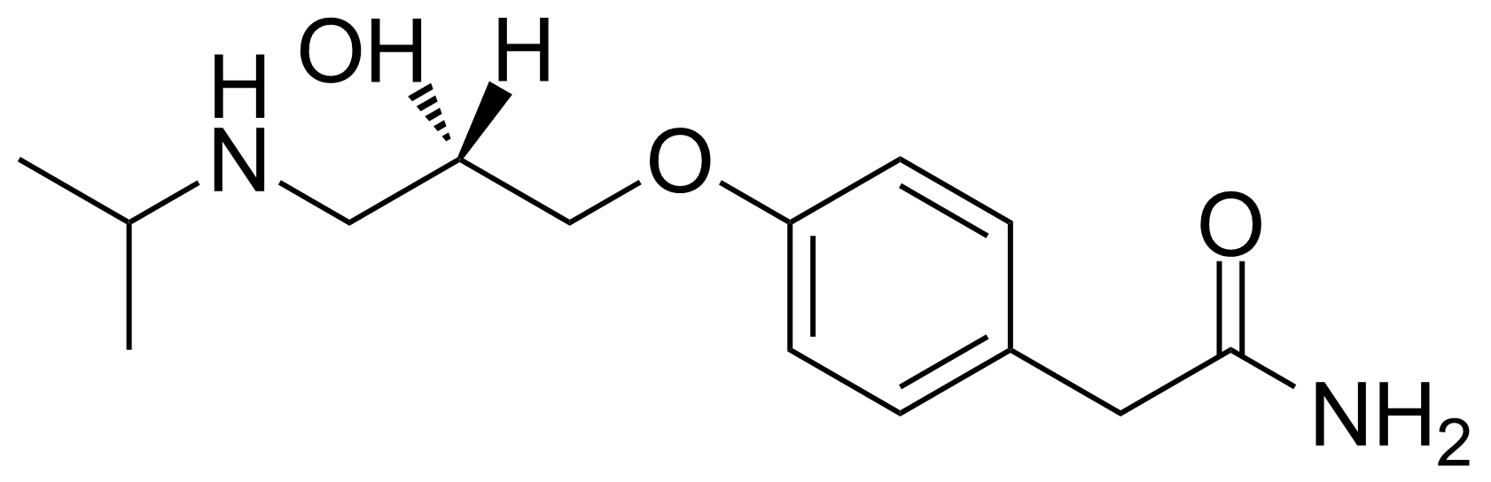 Structure of (S)-(-)-Atenolol