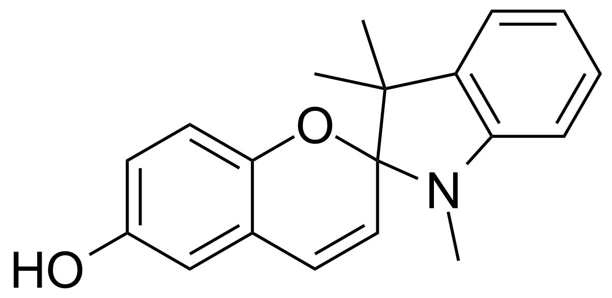 Structure of 1',3',3'-Trimethyl-6-hydroxyspiro(2H-1-benzopyran-2,2'-indoline)