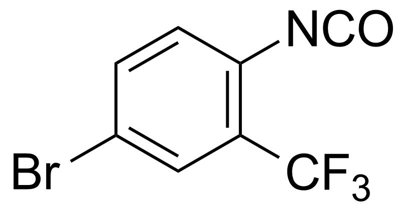 Structure of 4-Bromo-2-(trifluoromethyl)phenyl isocyanate