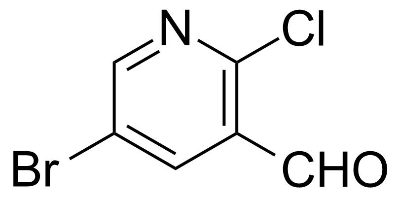 Structure of 5-Bromo-2-chloropyridine-3-carbaldehyde