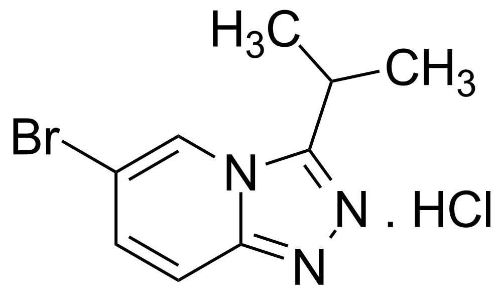 Structure of 6-Bromo-3-isopropyl-[1,2,4]triazolo[4,3-a]pyridine hydrochloride