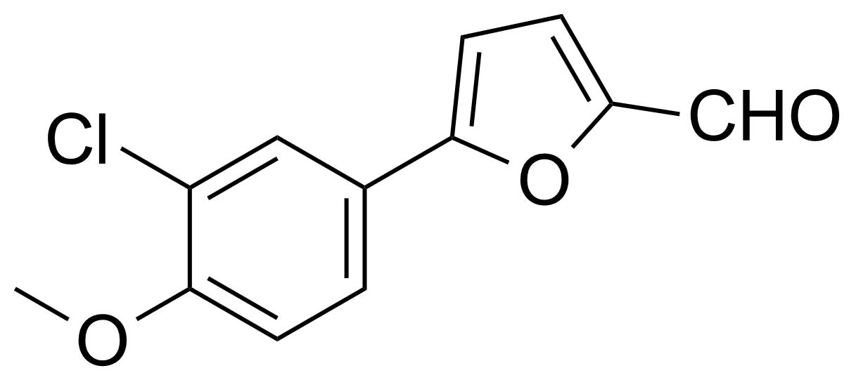 Structure of 5-(3-Chloro-4-methoxyphenyl)furfural